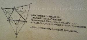 Problema de geometrie pe zidurile din Bucuresti